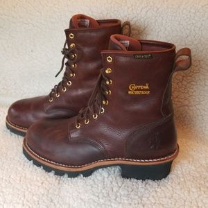 Chippewa Waterproof Shanked Steel Toed Work Boots